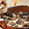 Melted Cheese with Mushrooms